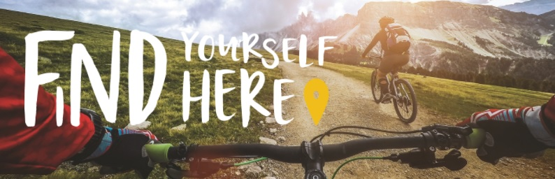 find yourself here header bike